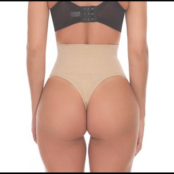 532418d06a Nude high waist shaper Tummy Control Thong Panty